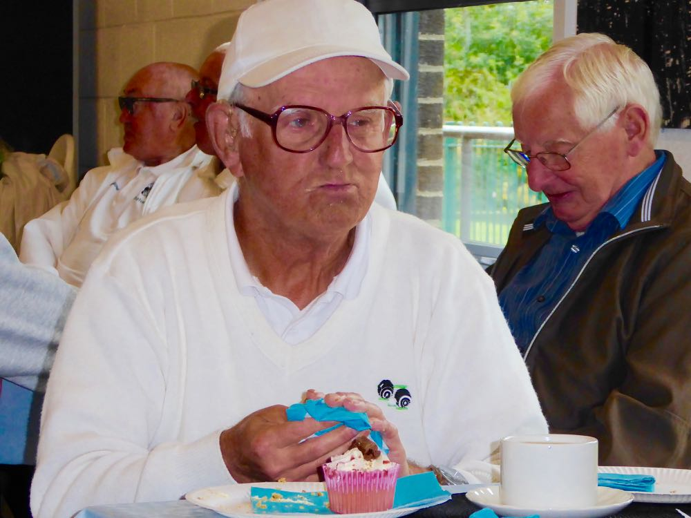 Astley Park Tea Party Ivor Hathaway Enjoying a Cake or Two